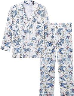 Joyaria Womens Soft Bamboo Pajama Sets Button Down Long...