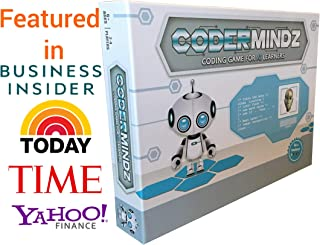 CoderMindz Game for AI Learners! World's First Ever Board Game for Boys and Girls Age 6 and up That Teaches Artificial Intelligence and Computer Programming Through Fun Robot and Neural Adventure!