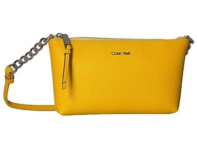 Calvin Klein Hayden Saffiano Key Item Crossbody (Marigold) Cross Body Handbags