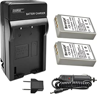 Bonadget BLS-5/BLS-50/PS-BLS5 Battery Charger Set, 1500mah 2-Pack Replacement Battery and Charger Compatible with Olympus OM-D E-M10 E-400 600 620 Pen E-PL2 E-PL5 E-PL6 E-PL7 E-PM2