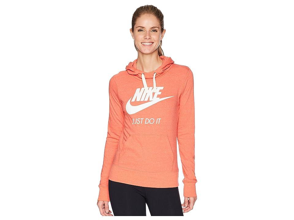 Nike Sportswear Gym Vintage HBR Hoodie (Rush Coral/Sail) Women