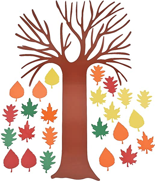 Fun Express Tree Of Thanks Bulletin Board Set Tree With 24 Leaves Classroom Decorations