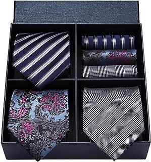 Lot 3 PCS Classic Men's Silk Tie Set Necktie & Pocket Square - Multiple Sets