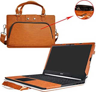 Aspire 5 15 Case,2 in 1 Accurately Designed Protective PU Leather Cover + Portable Carrying Bag for 15.6