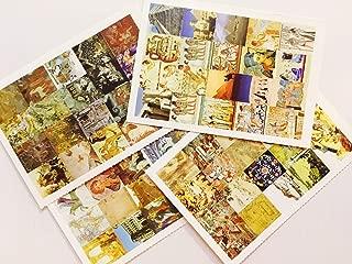 4 Sheets Per Set Stamp Stickers - History Class Project - Egypt Pyramid Van Gogh Renaissance History Art Indian Tibetan Rome Chinese Japanese Civilization