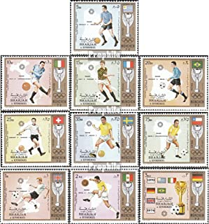 Sharjah 1142A-1151A (Complete.Issue.) 1972 Jules-Rimet-Cup (Stamps for Collectors) Soccer