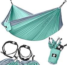Legit Camping - Double Hammock - Lightweight Parachute Portable Hammocks for Hiking, Travel, Backpacking, Beach, Yard Gear...