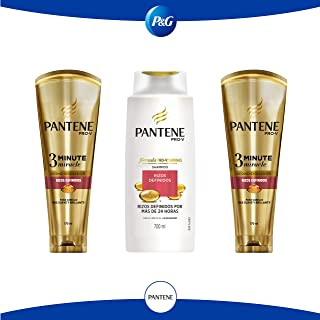 Pantene Pack Pantene Pro-v Rizos Definidos Shampoo + 3 Minute Miracle, color Rojo, 1 count, pack of/paquete de