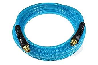Blue 1//2 ID x 75 Coilhose Pneumatics WGHR12-75B Water Flexeel
