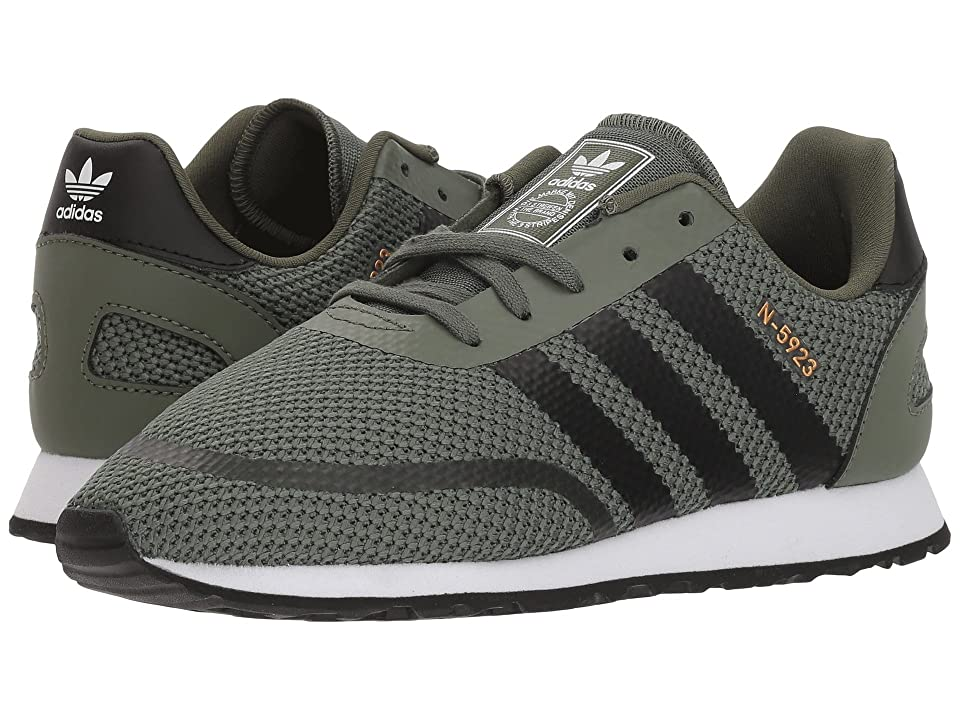 Image of adidas Originals Kids N-5923 CLS C (Little Kid) (Base Green/Black/White) Boys Shoes