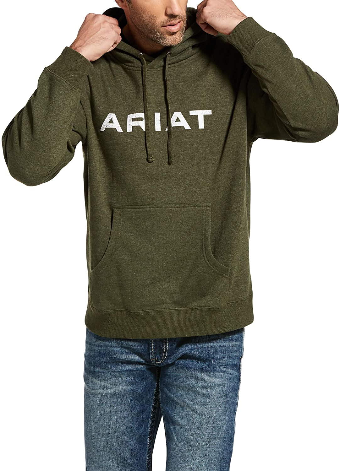 ARIAT Max 47% OFF Men's 100% quality warranty Vertical Hoodie Flag