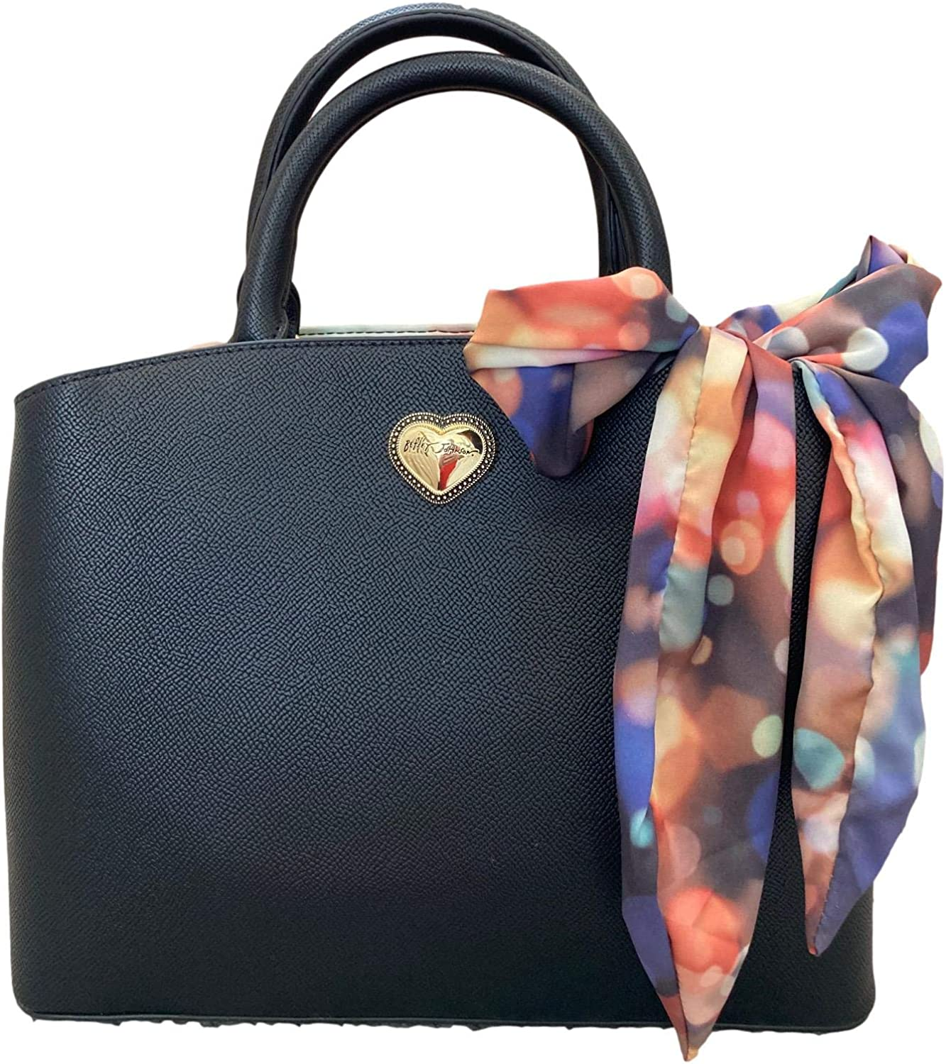 Betsey Johnson Gigi Indianapolis Mall Large-scale sale Triple Scarf Compartment Satchel with