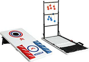 Lifetime Heavy Duty Outdoor Cornhole, Ladderball Game and Table Combo Set