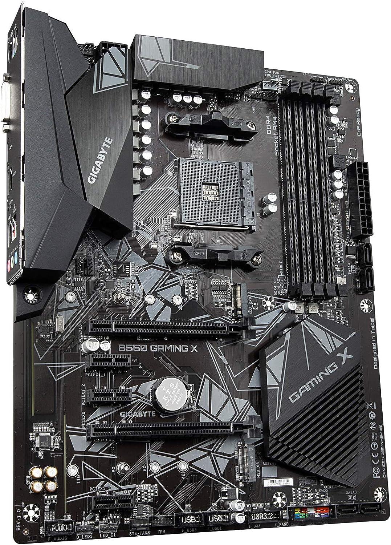 AMD Ryzen 5000//B550//ATX//M.2//HDMI//DVI//USB 3.1 Gen 2//DDR4//ATX//Gaming Motherboard Gigabyte B550 Gaming X V2