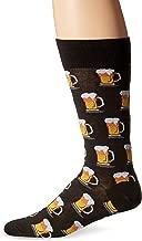 Hot Sox Men's Food and Booze Novelty Casual Crew Socks