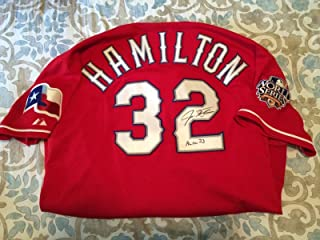 2010 Signed & Inscribed Josh Hamilton Game Used Post Season Jersey - JSA Certified - MLB Game Used Jerseys
