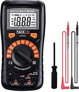 comprar comparacion Multímetro Digital, Tacklife DM02A Polimetro autorango-2000 counts polimetro Rango automático con NCV, volimetro de retroi...