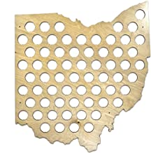 All 50 States Beer Cap Maps – Ohio Beer Cap Map OH – Glossy Wood –..