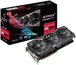 ASUS ROG-STRIX-RX580-O8G-GAMINGOC Edition GDDR5 DP HDMI DVI VR Ready AMD Graphics Card (Renewed)
