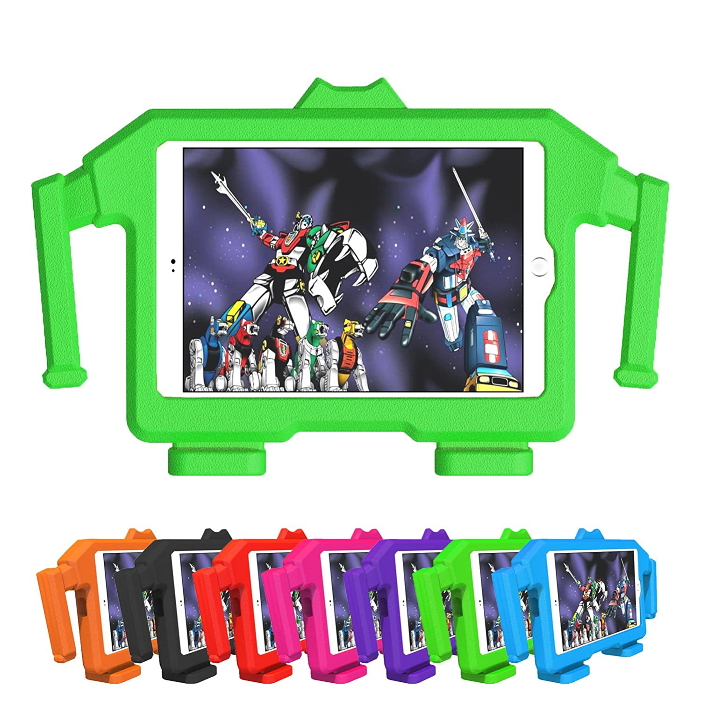JATDINOR New iPad Mini Case, Kid-Safe ShockProof Case with Handle & 3D Stand for Apple New iPad Mini/Mini 2/Mini 3/Mini 4/Mini 5 Tablet (7.9 inch Display) (Green)