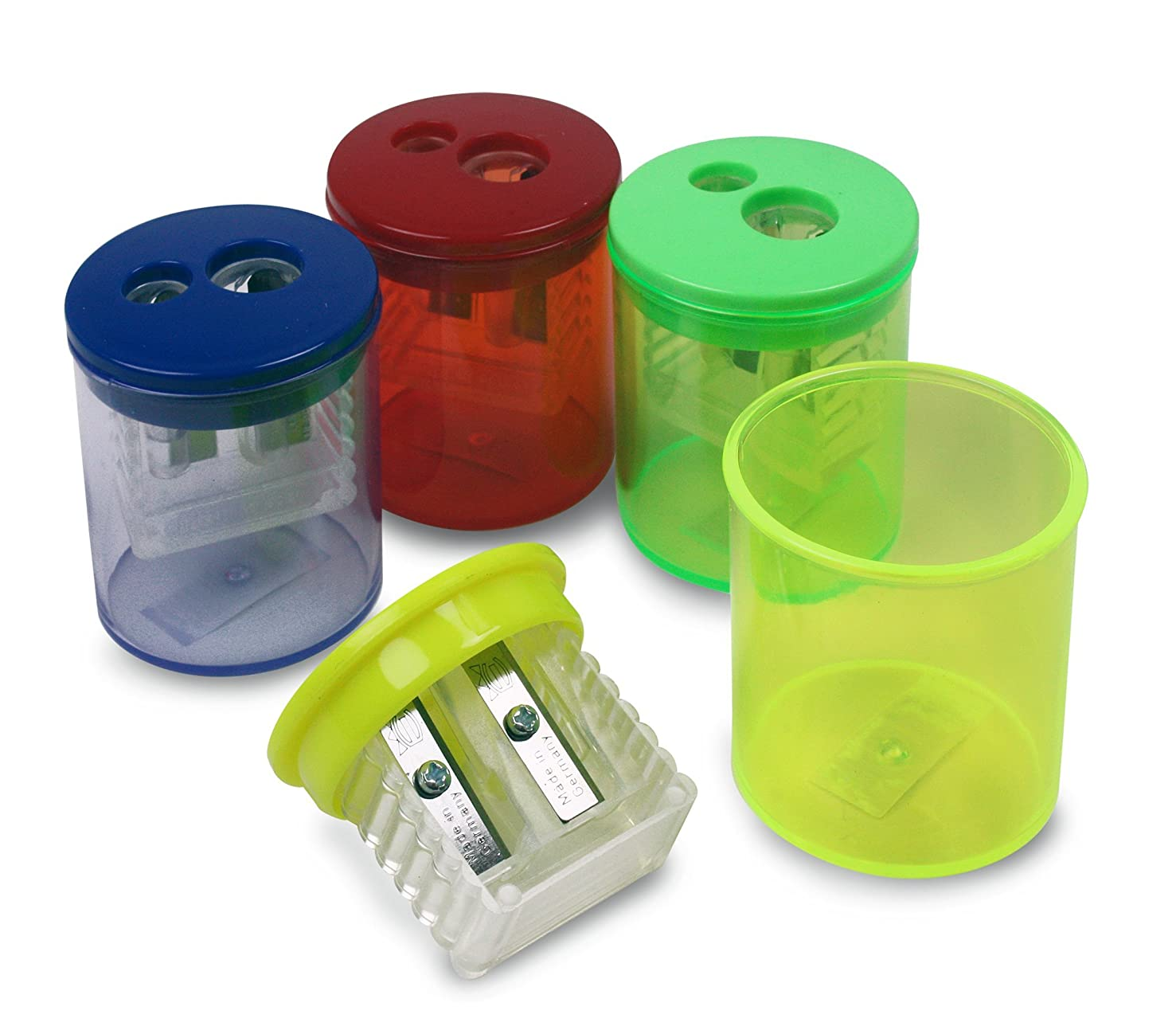 Eisen 12-pack Universal 2-Hole Sharpeners with German All Metal Blades, 1-7/8 x 1-1/2 Inches, Assorted Colors (ESN-51312)