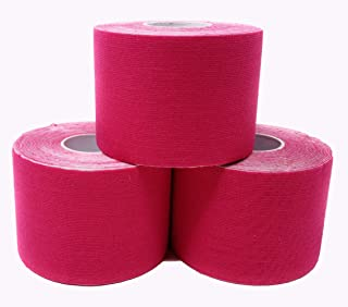 Kinesiology Tape - Therapeutic Sport K Tape roll for Athletes and Therapists - 2 inch x 16.4 feet Rolls - 3 Rolls