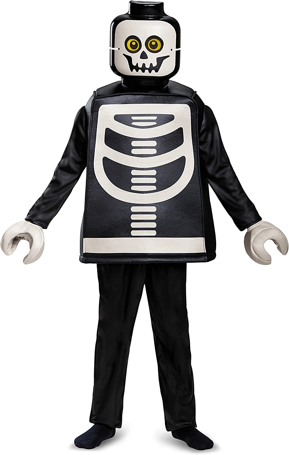 Disguise Lego New Max 50% OFF Orleans Mall Skeleton Deluxe Black Small 4-6 Costume