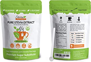 Sponsored Ad - Organic Stevia Powder-Pure Stevia Extract-Stevia Select 4 oz. Bulk Stevia-Perfect Sugar Substitute Extracte...