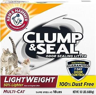 Arm & Hammer For Pets Clump & Seal Lightweight Cat Litter, Multi Cat 9 lb