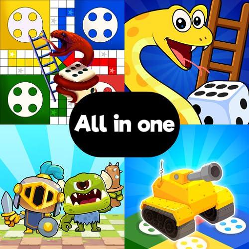1 2 3 4-Spieler-Spiele: Ludo, Schlangen und Leitern, Schach und Mini-Multiplayer-Brettspiele