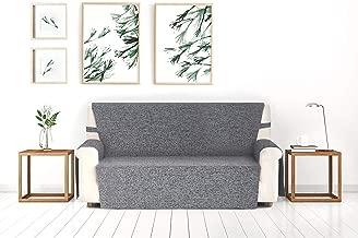 Blindecor Paula - Protector sofá 3 plazas, Color Gris, tela