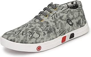 Akira Shoe Men's Grey Casual Canvas Sneakers Shoes