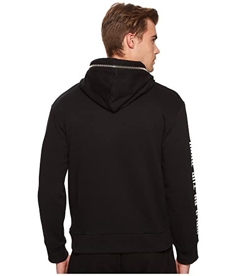 with Hoodie Zip Kooples Detailing Sweatshirt Black The ZqwUIEZ