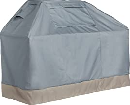 VonHaus BBQ Grill Cover - The Storm Collection Premium Heavy Duty Waterproof Outdoor Barbecue Grill Protection - Slate Grey with Beige Trim L64 x L26 x H50, Large BBQ Cover