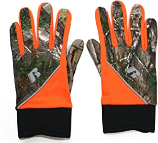 Russell Outdoors Lightweight Work Gloves with Touch Screen Technology, Woodland Camo & Orange (L-XL)