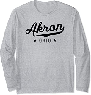 Classic Vintage Retro Akron Ohio Pride Gift Novelty Long Sleeve T-Shirt