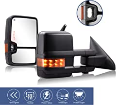 HF autoparts Towing Mirrors Compatible with 09-18 Dodge...