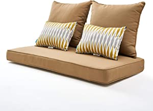ARTPLAN Bench Pallet Couch Outdoor Cushions 5Pieces a Set for Patio Outdoor Furniture