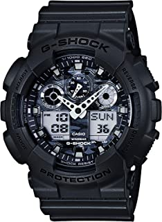 Casio Men's XL Series G-Shock Quartz 200M WR Shock Resistant Resin Color: Grey With Camo Face (Model GA-100CF-8ACR)