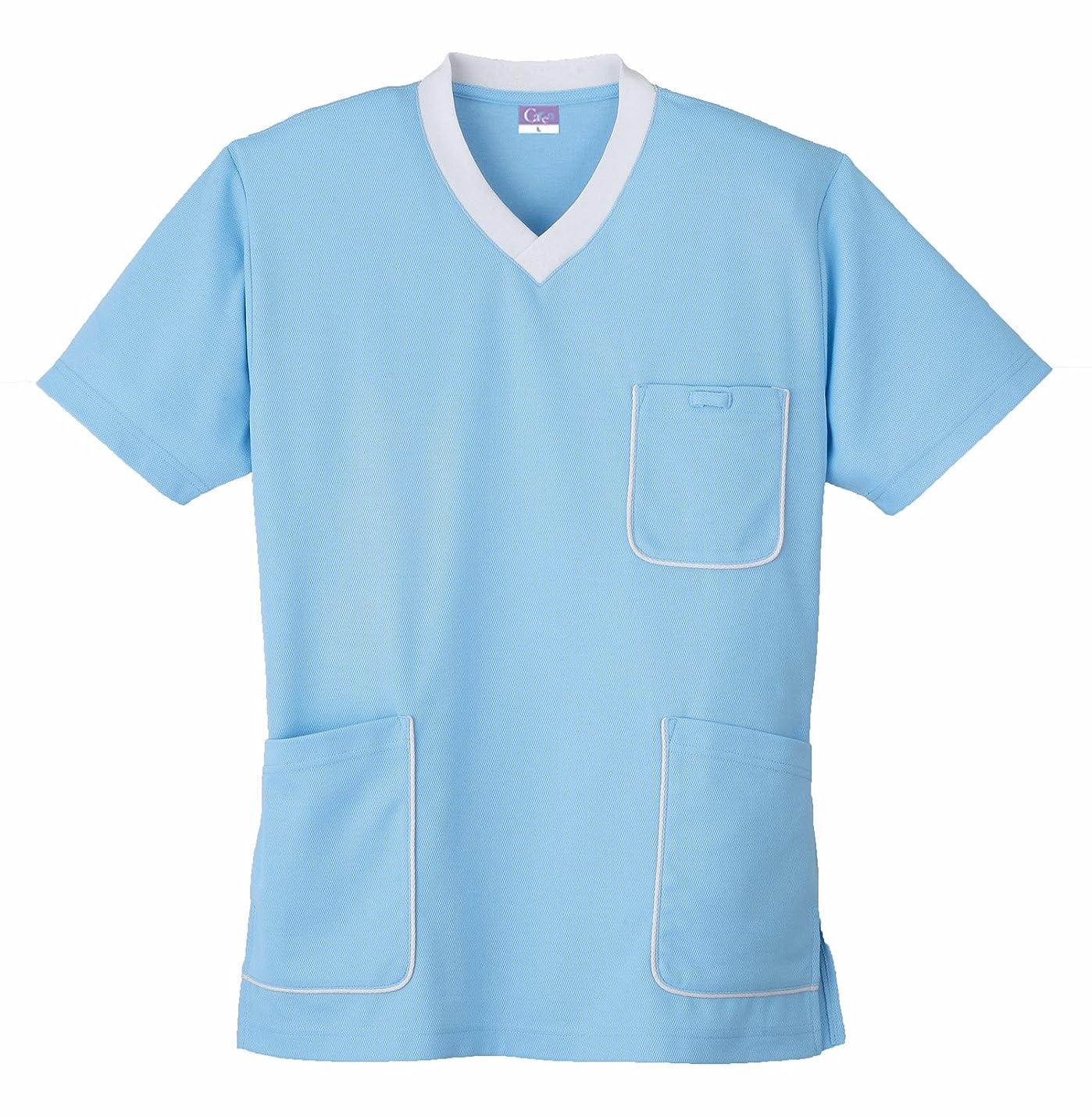 デザートカメラ安息(小倉屋) KOKURAYA スクラブニットシャツ(Carenシリーズ?抗菌防臭機能)《013-390》