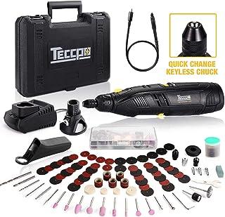 Cordless Rotary Tool, TECCPO 12V Powerful Rotary Tool Kit with 2.0Ah Li-ion Battery,..