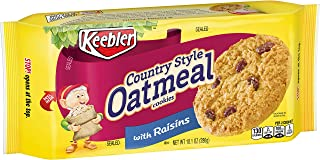 KeeblerCookies, Country Style Oatmeal Cookies with Raisins, 10.1 oz Tray