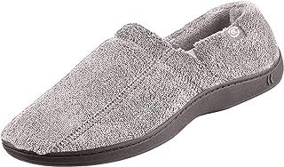 حذاء ISOTONER رجالي من Terry بدون كعب مع إسفنج ميموري لراحة داخلية/خارجية ودعم قوس القدم
