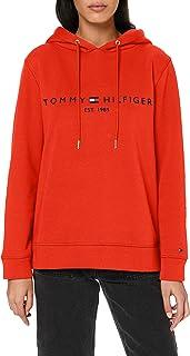 Tommy Hilfiger Essentials Felpa con Cappuccio Donna