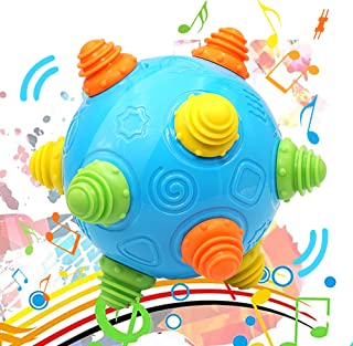 PEYNE Toddlers Music Shake Ball - Baby Bumpy & Crawl Dancing Ball Toy for Kids, Pre-Kindergarten Interactive Sounds Bounci...