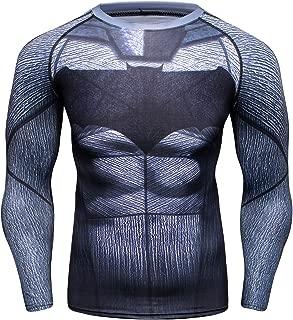 Red Plume Men's Bat Logo Sports Shirt Cool Party/Gift Running Functional Long Sleeve Tee