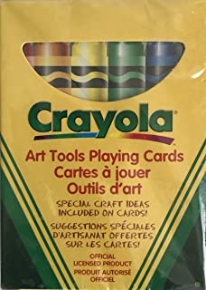 Crayola Art Tools PLAYING CARDS Colorable 52 Cards w Special Craft Ideas on Cards! Official Licensed Product (Bicycle Canada - Circa 1990's)