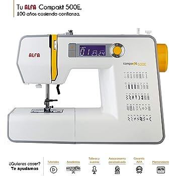 Alfa Compakt 500E Plus Máquina de Coser electrónica, compacta y ...
