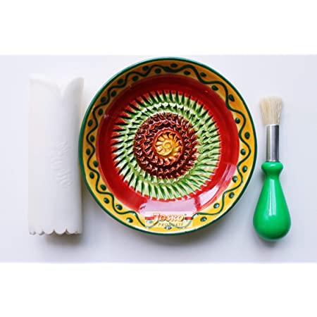 Handarbeit Knoblauchreibe Muskatreibe Ingwerreibe Parmesanreibe aus Keramik
