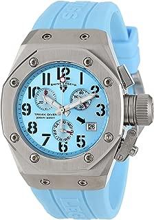Women's 10535-012 Trimix Diver Chronograph Light Blue Dial Light Blue Silicone Watch